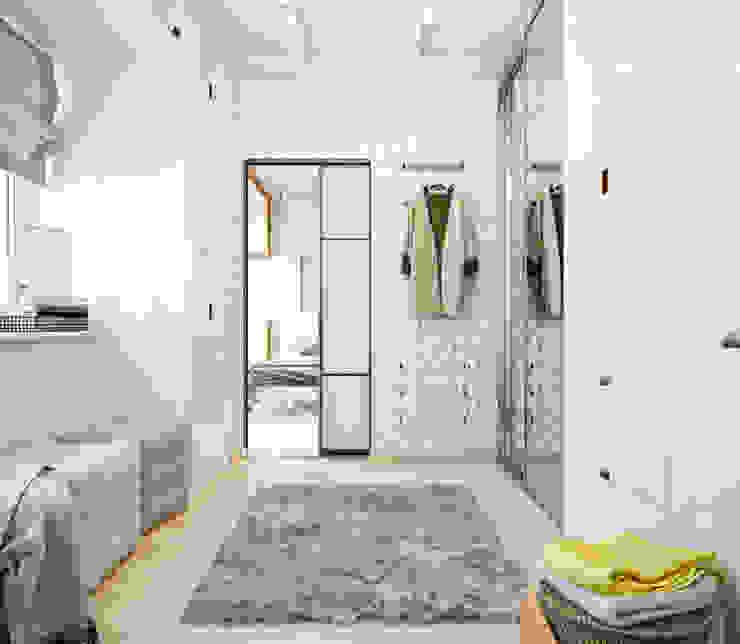 Двухэтажная квартира в современном стиле для молодой семьи Гардеробная в стиле минимализм от Студия архитектуры и дизайна ДИАЛ Минимализм