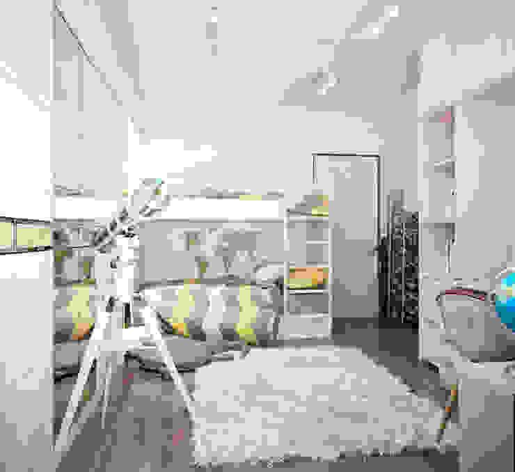 Двухэтажная квартира в современном стиле для молодой семьи Детская комнатa в стиле минимализм от Студия архитектуры и дизайна ДИАЛ Минимализм