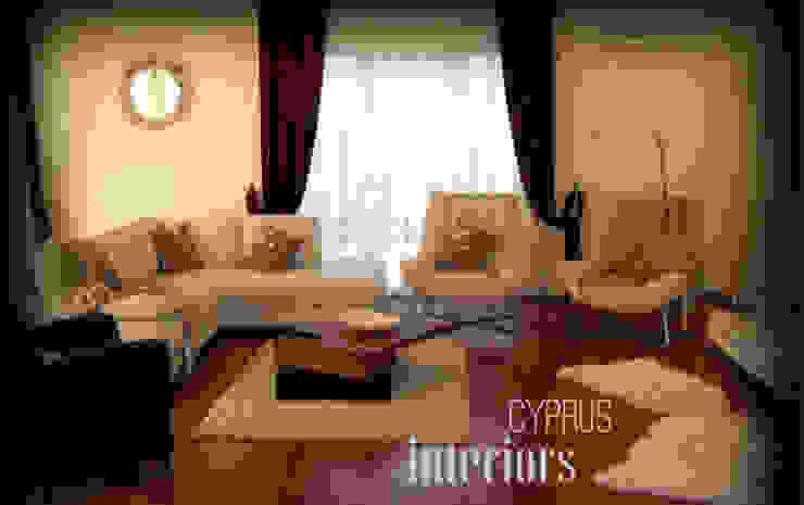 villa olive Eklektik Oturma Odası cyprus interiors Eklektik
