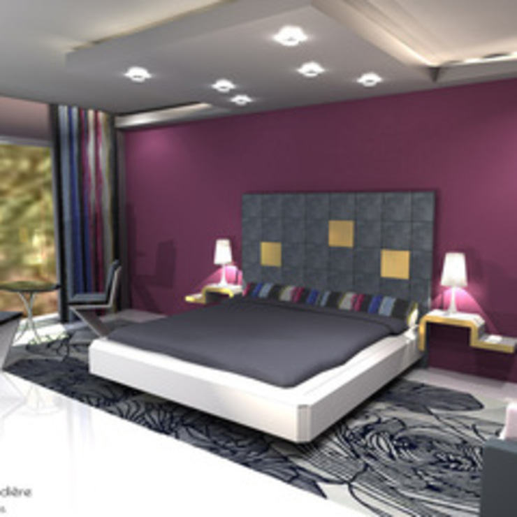 Exemple realisations Chambre moderne par Ribardiere creations Moderne