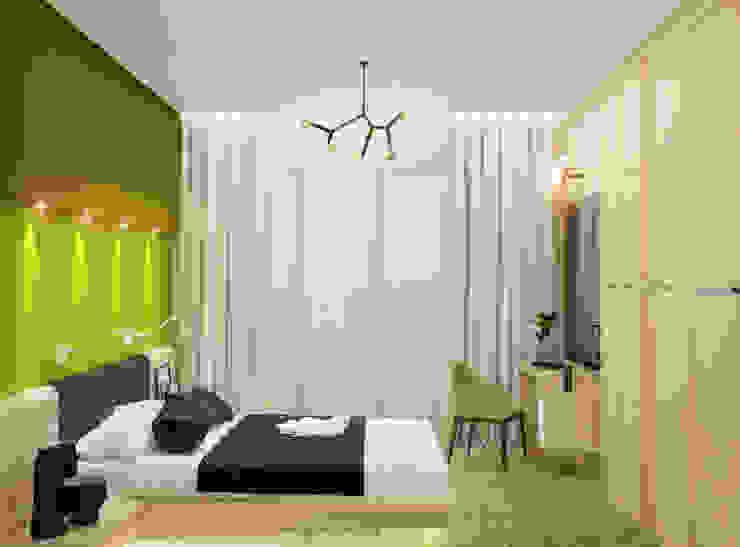 Яркие краски для спальни в стиле минимализм Спальня в стиле минимализм от Студия дизайна Interior Design IDEAS Минимализм
