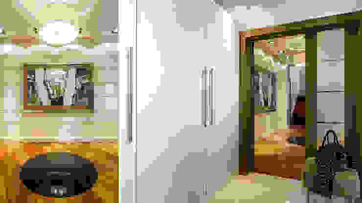 DOM JEDNORODZINNY – SOPOT Nowoczesny korytarz, przedpokój i schody od Anna Serafin Architektura Wnętrz Nowoczesny