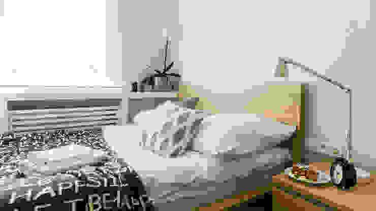 MIESZKANIE WAKACYJNE STYL SKANDYNAWSKI - AVIATOR - GDAŃSK: styl , w kategorii Sypialnia zaprojektowany przez Anna Serafin Architektura Wnętrz,Skandynawski