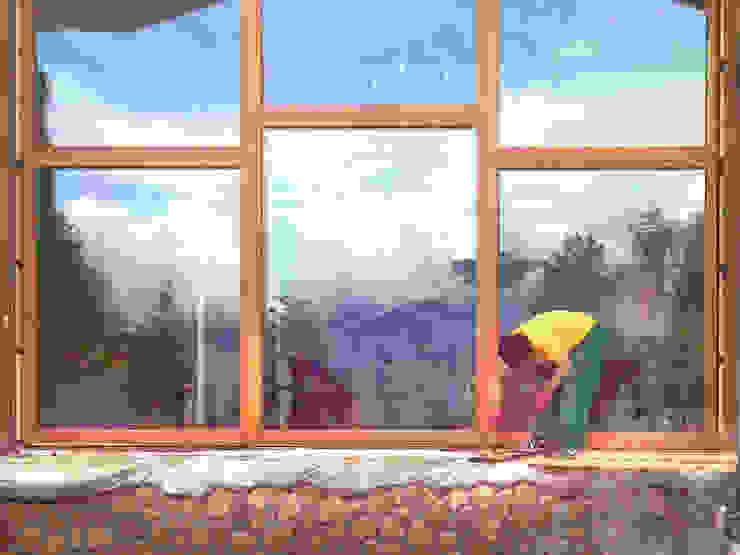 Панорамные окна из дуба Окна и двери в классическом стиле от Lesomodul Классический