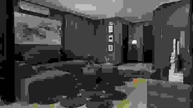Квартира для холостяка Гостиная в стиле минимализм от Mushulov Project Минимализм
