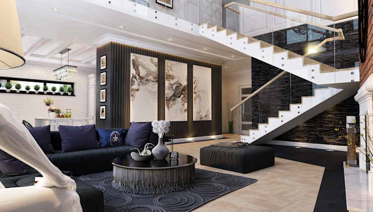 Modern Living Room by Mushulov Project Modern