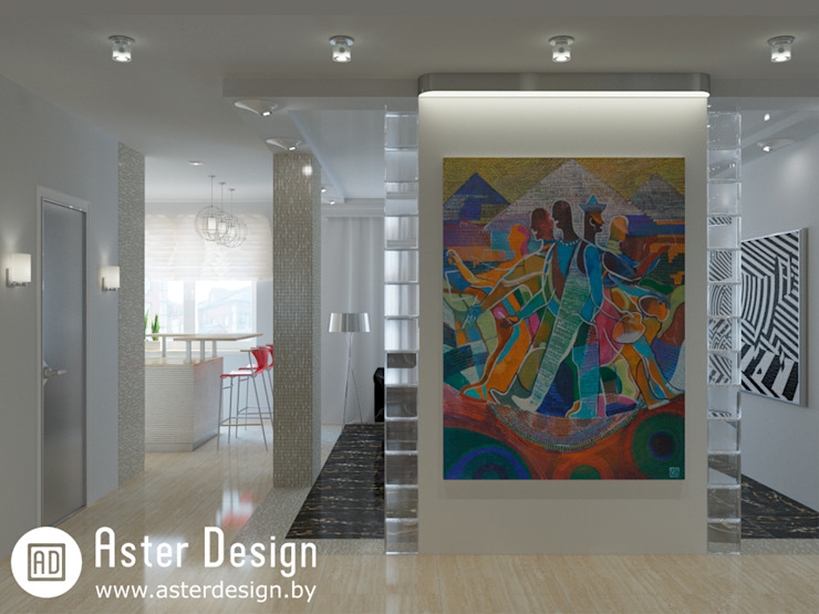 Авторский интерьер Коридор, прихожая и лестница в стиле минимализм от ASTER DECO Минимализм