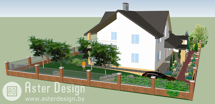 Ландшафтный дизайн в Раубичах Сад в стиле кантри от Aster Garden Кантри
