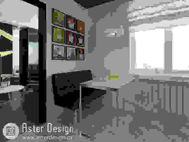Современная квартира ASTER DECO Кухня в стиле минимализм Металлический / Серебристый