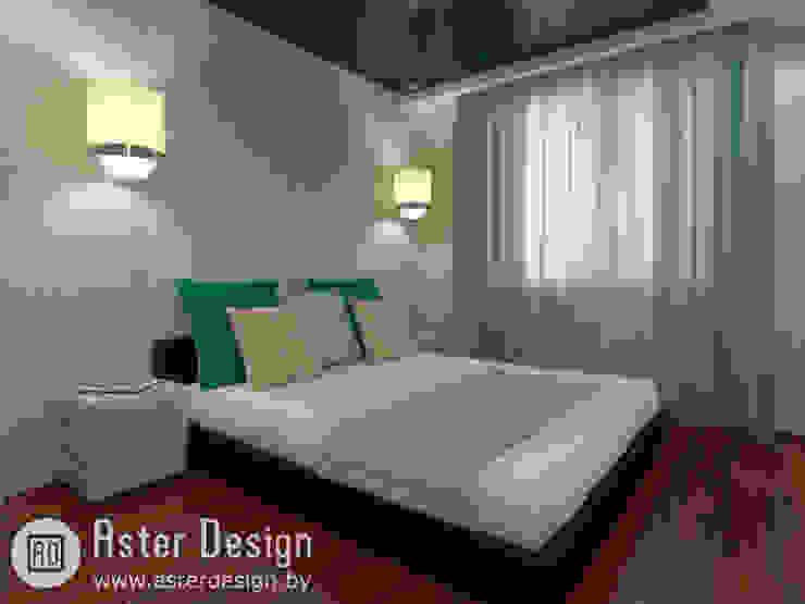 Современная квартира ASTER DECO Спальня в эклектичном стиле Зеленый