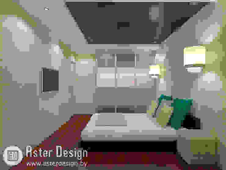 Современная квартира ASTER DECO Спальня в эклектичном стиле Янтарный / Золотой