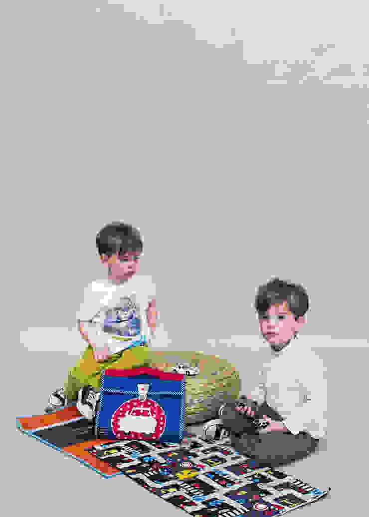 """Valisette """"Range tes voitures"""" Lulu Farfelue Chambre d'enfantsJouets Textile Multicolore"""