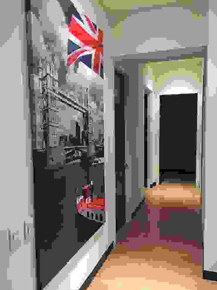 Departamento Gran Polanco Pasillos, vestíbulos y escaleras modernos de ARKIZA ARQUITECTOS by Arq. Jacqueline Zago Hurtado Moderno Madera Acabado en madera