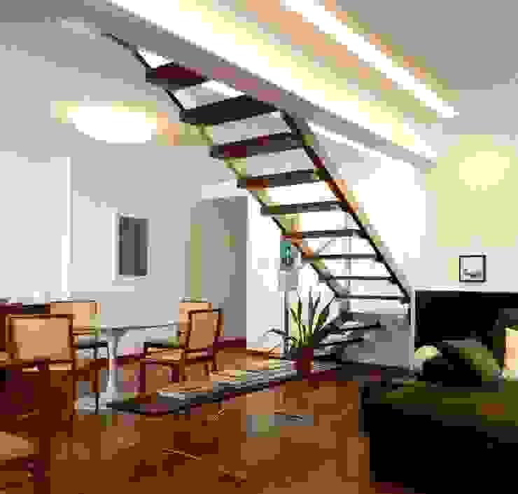 玄關、走廊與階梯 by Escritório de Arquitetura e Interiores Janete Chaoui,