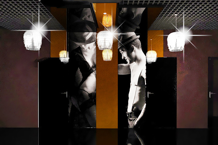 Ночной клуб - общий зал Бары и клубы в эклектичном стиле от ПРОЕКТНАЯ СТУДИЯ Ирины Щуровой ДОМ Эклектичный