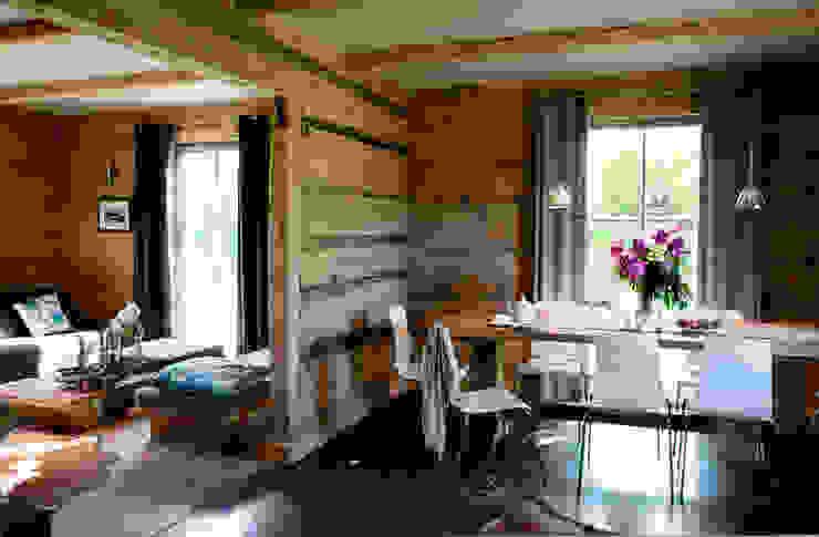 Metamorfoza domu w Bieszczadach Wiejska jadalnia od deco chata Wiejski