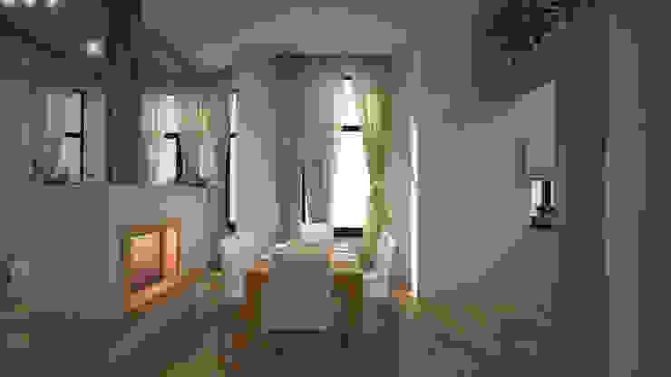 Интерьер таун-хауса в экостиле Гостиная в стиле минимализм от дизайн-бюро ARTTUNDRA Минимализм