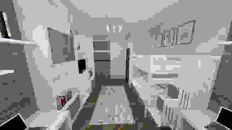 Сумасшедшая перепланировка из офиса в квартиру Детская комнатa в стиле минимализм от дизайн-бюро ARTTUNDRA Минимализм