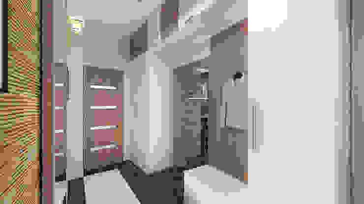 Сумасшедшая перепланировка из офиса в квартиру Коридор, прихожая и лестница в стиле минимализм от дизайн-бюро ARTTUNDRA Минимализм