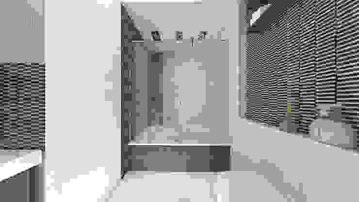 Сумасшедшая перепланировка из офиса в квартиру Ванная комната в стиле минимализм от дизайн-бюро ARTTUNDRA Минимализм