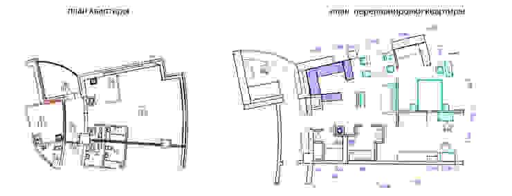 Сумасшедшая перепланировка из офиса в квартиру от дизайн-бюро ARTTUNDRA Минимализм