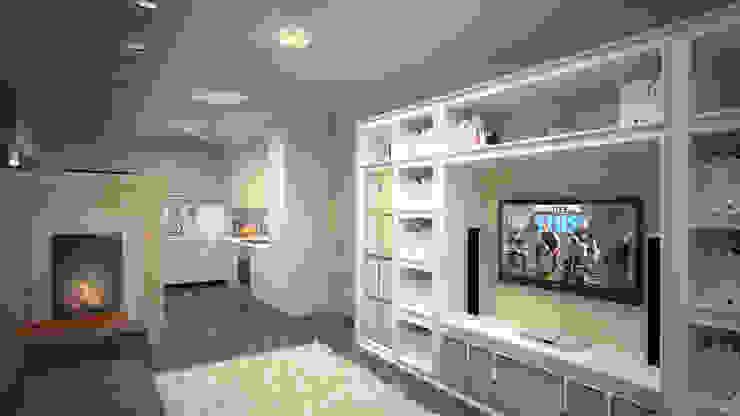 Квартира студия г. Балашиха Гостиная в стиле модерн от дизайн-бюро ARTTUNDRA Модерн