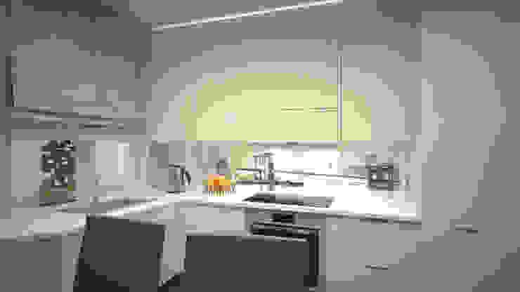 Квартира студия г. Балашиха Кухня в стиле модерн от дизайн-бюро ARTTUNDRA Модерн