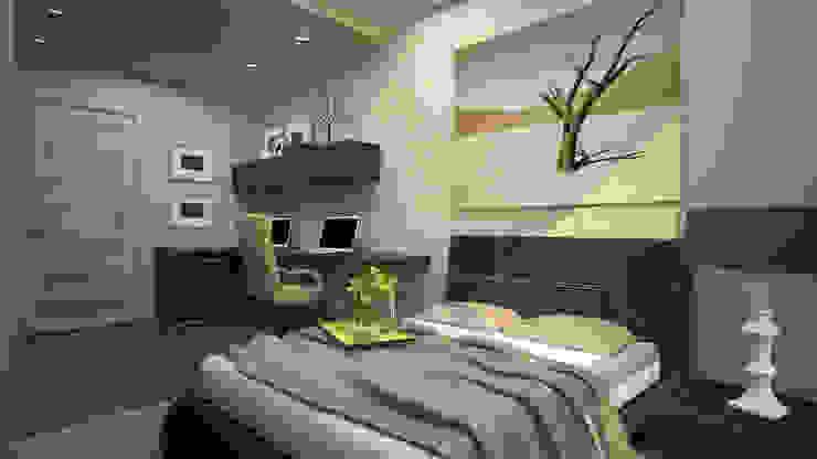 Квартира студия г. Балашиха Спальня в стиле модерн от дизайн-бюро ARTTUNDRA Модерн
