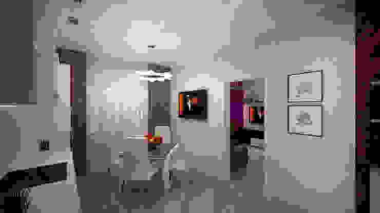 Превращение однокомнатной квартиры в двухкомнатную Кухня в стиле минимализм от дизайн-бюро ARTTUNDRA Минимализм