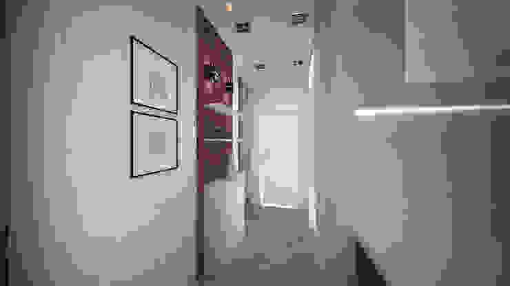 Превращение однокомнатной квартиры в двухкомнатную Коридор, прихожая и лестница в стиле минимализм от дизайн-бюро ARTTUNDRA Минимализм
