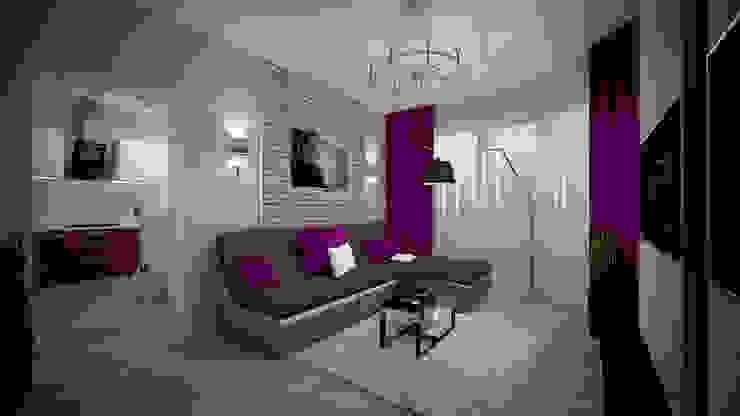 Превращение однокомнатной квартиры в двухкомнатную Гостиная в стиле минимализм от дизайн-бюро ARTTUNDRA Минимализм
