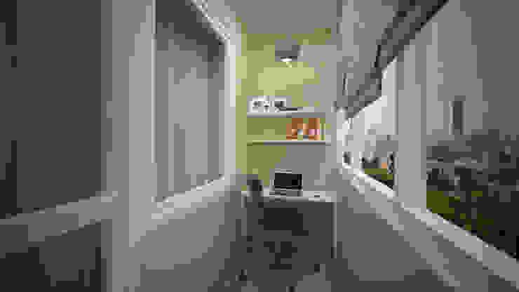 Превращение однокомнатной квартиры в двухкомнатную Балкон и терраса в стиле минимализм от дизайн-бюро ARTTUNDRA Минимализм