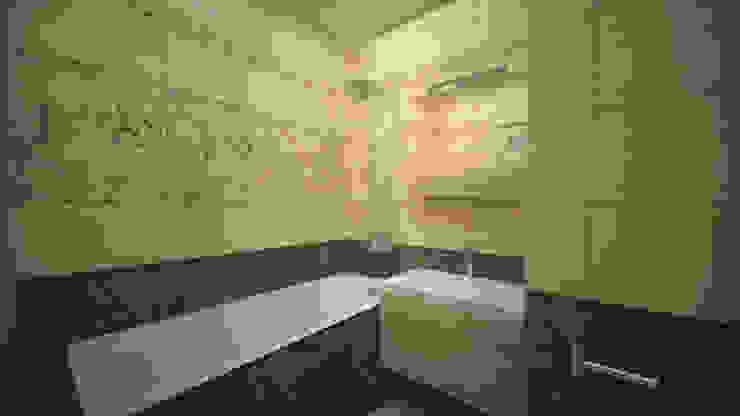 Превращение однокомнатной квартиры в двухкомнатную Ванная комната в стиле минимализм от дизайн-бюро ARTTUNDRA Минимализм