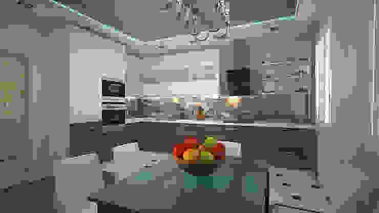 Трех комнатная квартира в Истринском районе Кухня в стиле минимализм от дизайн-бюро ARTTUNDRA Минимализм