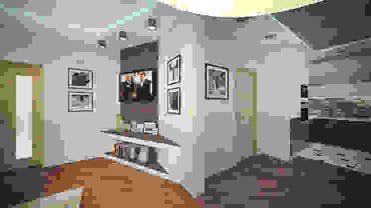 Трех комнатная квартира в Истринском районе Гостиная в стиле минимализм от дизайн-бюро ARTTUNDRA Минимализм