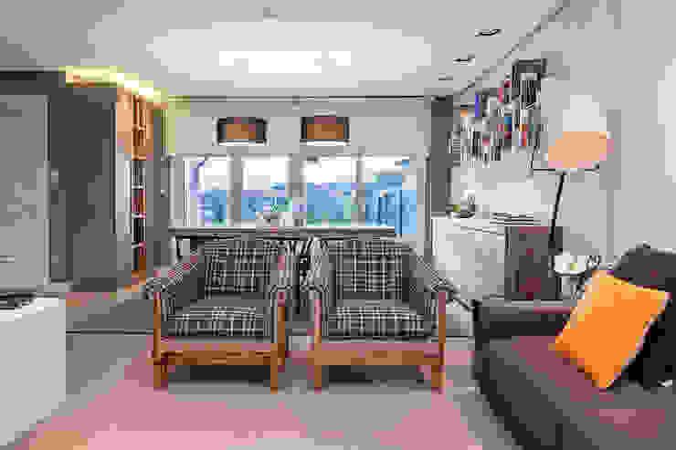 Vivienda unifamiliar en Berango Salones de estilo moderno de Urbana Interiorismo Moderno