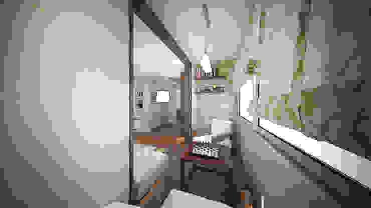 Трех комнатная квартира в Истринском районе Балкон и терраса в стиле минимализм от дизайн-бюро ARTTUNDRA Минимализм