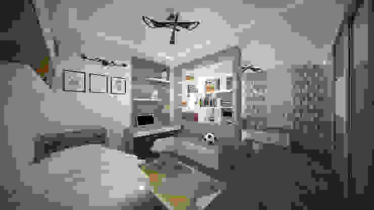Трех комнатная квартира в Истринском районе Детская комнатa в скандинавском стиле от дизайн-бюро ARTTUNDRA Скандинавский