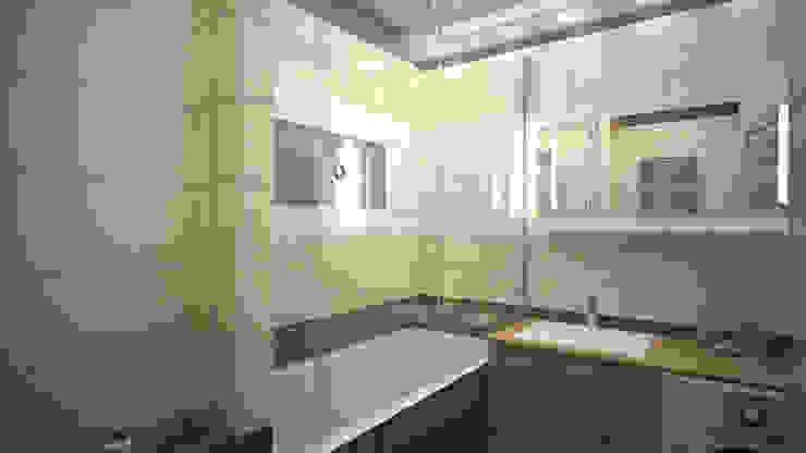 Трех комнатная квартира в Истринском районе Ванная комната в стиле минимализм от дизайн-бюро ARTTUNDRA Минимализм