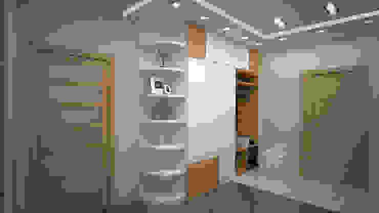 Трех комнатная квартира в Истринском районе Коридор, прихожая и лестница в стиле минимализм от дизайн-бюро ARTTUNDRA Минимализм