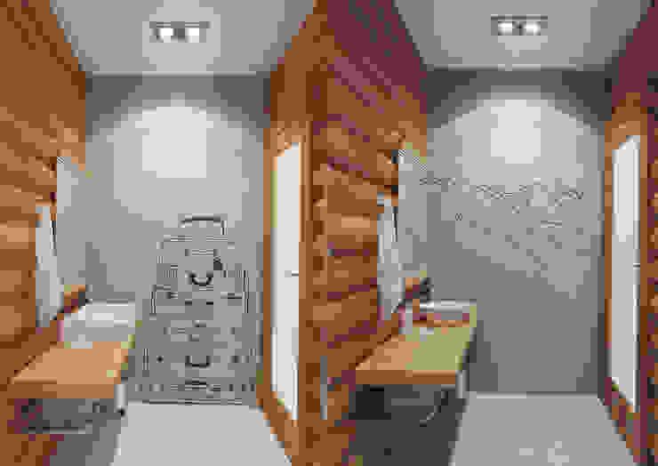 Гостевой дом 200м2. Ванная комната в эклектичном стиле от homify Эклектичный