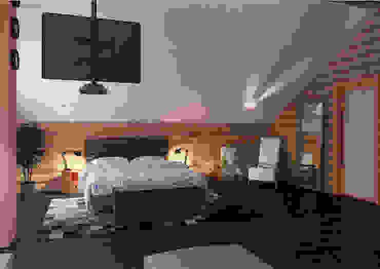 Гостевой дом 200м2. Спальня в эклектичном стиле от homify Эклектичный