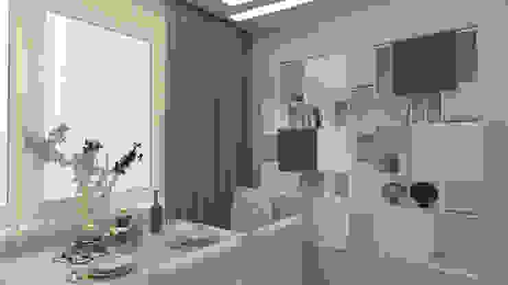 Трех комнатная квартира по ул Осенний бульвар Гостиная в стиле минимализм от дизайн-бюро ARTTUNDRA Минимализм