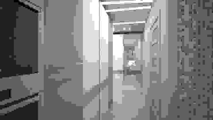 Трех комнатная квартира по ул Осенний бульвар Коридор, прихожая и лестница в стиле минимализм от дизайн-бюро ARTTUNDRA Минимализм