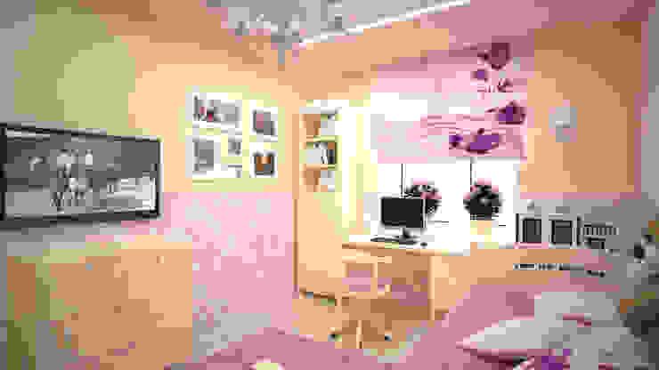 Трех комнатная квартира по ул Осенний бульвар Детская комнатa в стиле минимализм от дизайн-бюро ARTTUNDRA Минимализм