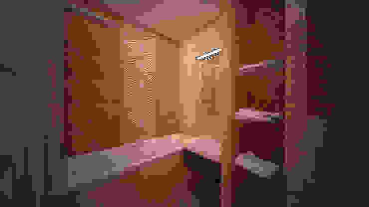 Трех комнатная квартира по ул Осенний бульвар Ванная комната в стиле минимализм от дизайн-бюро ARTTUNDRA Минимализм