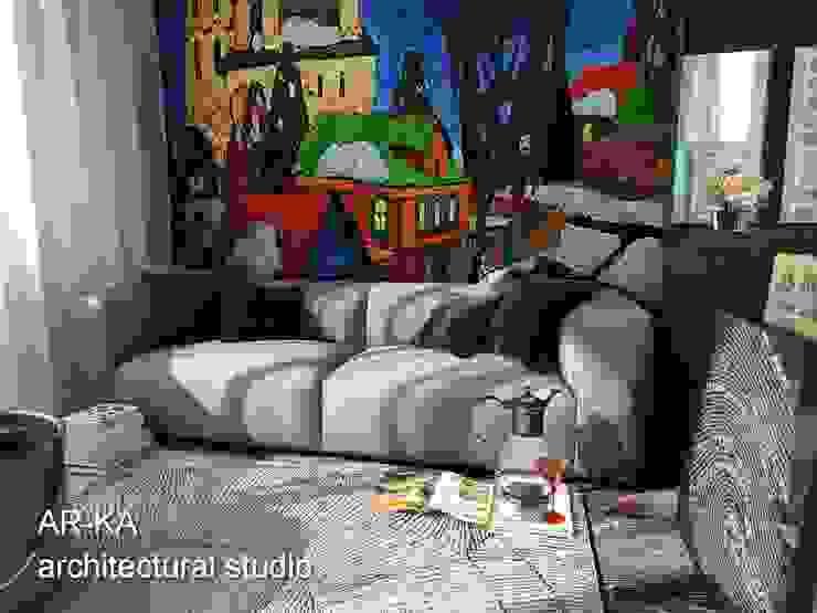 Супер – МИНИ с хорошим вкусом Гостиная в стиле лофт от AR-KA architectural studio Лофт