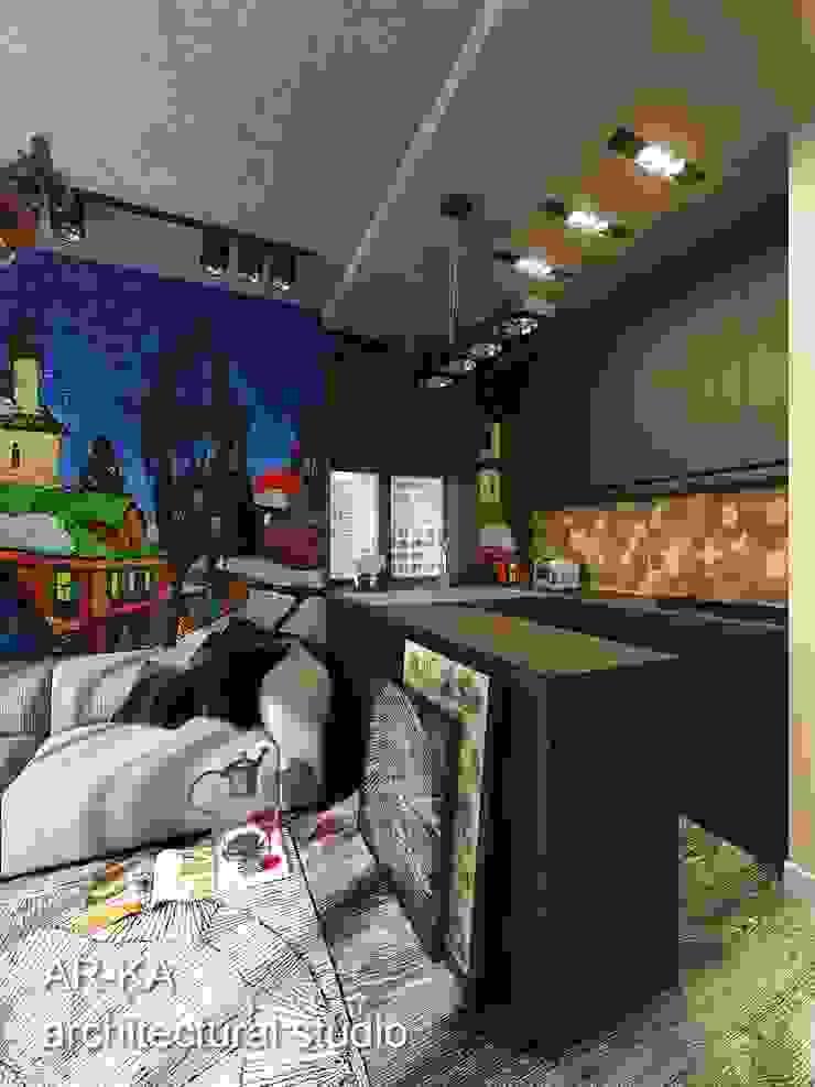 Супер – МИНИ с хорошим вкусом Кухня в скандинавском стиле от AR-KA architectural studio Скандинавский