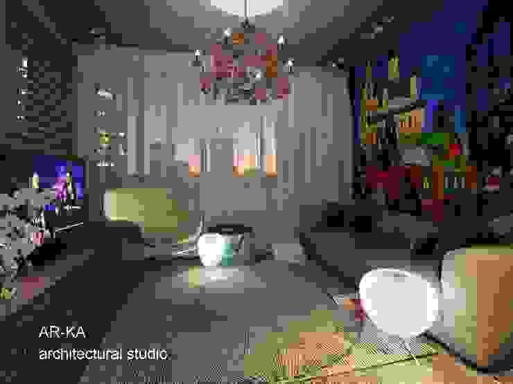 Супер – МИНИ с хорошим вкусом Спальня в стиле лофт от AR-KA architectural studio Лофт
