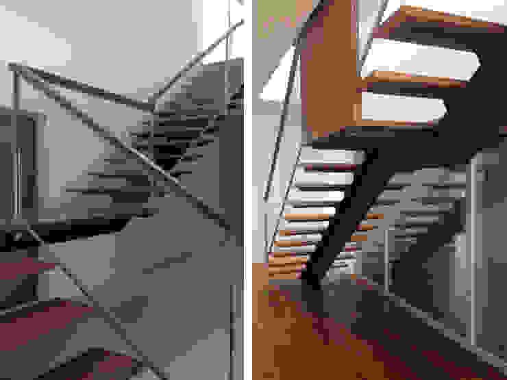 Habitação Unifamiliar Corredores, halls e escadas modernos por AMVC - Arquitectos Associados Moderno
